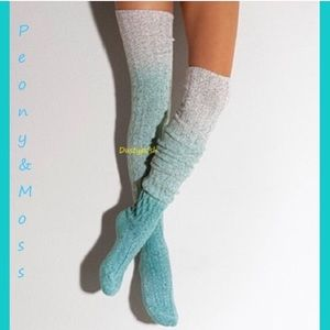 Peony & Moss Marled Thigh High Socks Over Knee OTK